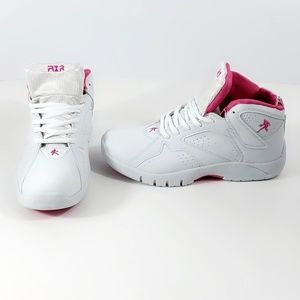 Air Sport Womens High Tops White Pink Size 8 #S165